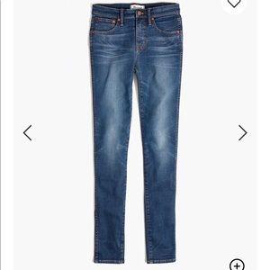 "9"" high rise skinny jeans Madewell"